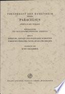 Theophrast Von Hohenheim, Genannt Paracelsus