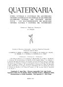 Quaternaria  storia naturale e culturale del quaternario