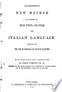 New Method of Learning to Read  Write  and Speak the Italian Language