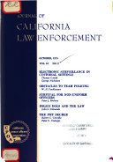 Journal of california law enforcement