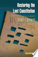 Book Restoring the Lost Constitution