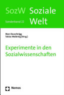 Experimente in den Sozialwissenschaften