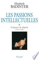 Les Passions intellectuelles  tome 2
