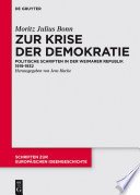 Zur Krise der Demokratie