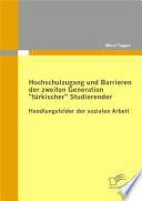 """Hochschulzugang und Barrieren der zweiten Generation """"trkischer"""" Studierender - Handlungsfelder der sozialen Arbeit"""