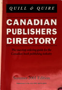 Canadian Publishers  Directory
