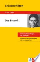 Klett Lekt  rehilfen   Franz Kafka  Der Proce