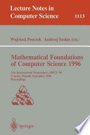 Mathematical Foundations Of Computer Science 1996