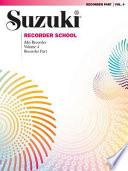 Suzuki Recorder School Alto Recorder Part