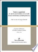Temi e questioni di storia economica e sociale in et   moderna e contemporanea