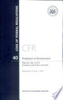 Code Of Federal Regulations Title 40 Protection Of Environment Pt 52 Sect 52 1019 To 52 2019 Revised As Of July 1 2012 book