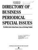 Directory of Business Periodical Special Issues