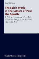 The Spirit World in the Letters of Paul the Apostle Book PDF