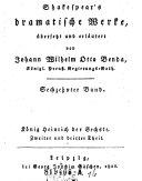 Shakespear's dramatische Werke