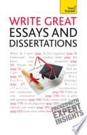 Write Great Essays And Dissertations Teach Yourself Ebook Epub