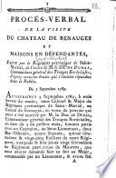 Procès-verbal de la visite du château de Benauges ... faite par le Régiment patriotique de Saint-Martial, etc