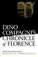 Book Dino Compagni's Chronicle of Florence