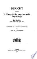 Bericht   ber den Kongress der Deutschen Gesellschaft f  r Psychologie