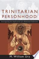 Trinitarian Personhood