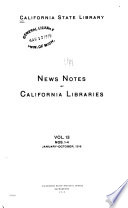 News Notes of California Libraries