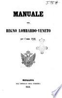 Manuale del Regno lombardo veneto per l anno