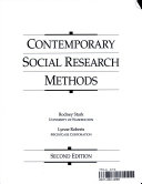 Contemporary Social Research Methods