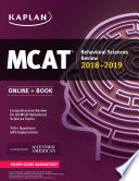 MCAT Behavioral Sciences Review 2018 2019