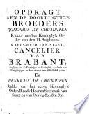 Algemeyne inleyding tot de al-oude en midden-tydsche Belgische historie, etc