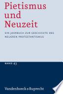 Pietismus und Neuzeit Band 43 – 2017