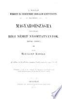Bibliografie der ungarischen nationalen und internationalen literatur