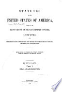Statutes of the United States of America Passed at the     Session of the     Congress