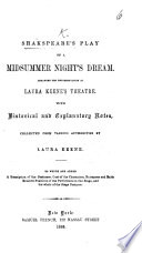 Shakspeare's Play of A Midsummer Night's Dream, ... with ... notes, collected ... by L. Keene