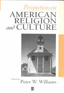 Perspectives On American Religion And Culture book