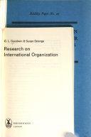 Research on international organization