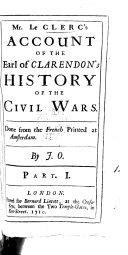 download ebook mr. le clerc\'s account of the earl of clarendon\'s history of the civil wars. done from the french printed at amsterdam. by j. o. pdf epub