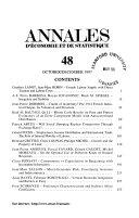 Annales d   conomie et de statistique
