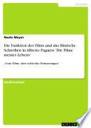 Die Funktion des Films und das filmische Schreiben in Alberto Fuguets 'Die Filme meines Lebens'