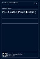 Post Conflict Peace Building