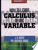 How To Learn Calculus Of One Variable
