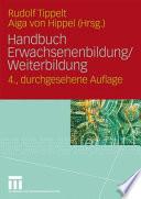 Handbuch Erwachsenenbildung, Weiterbildung