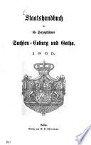 Staatshandbuch für die Herzogthümer Sachsen-Coburg und Gotha