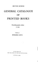 General Catalogue of Printed Books Book PDF
