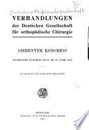 Verhandlungen der Deutschen Gesellschaft f  r Orthop  die und Traumatologie