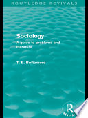 Sociology  Routledge Revivals