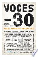 Voces -30. Nueva narrativa chilena