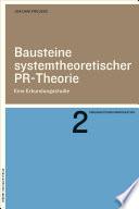 Bausteine systemtheoretischer PR-Theorie