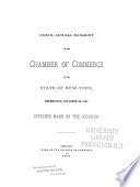 Annual Banquet Of The Chamber Of Commerce Of The State Of New York book