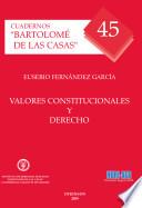 Valores constitucionales y derecho