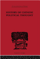 download ebook history of chinese political thought pdf epub