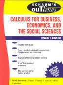 Schaum s Outline of Calculus for Business  Economics  and The Social Sciences